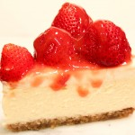 Strawberry Cheesecake with Walnut Crust