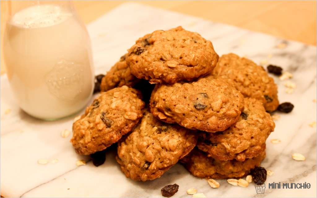 oatmeal raisin cookies-3