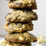 Buttered Popcorn Dark Chocolate Chip Cookies