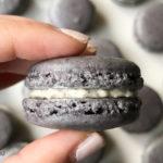 Double Black Sesame Macarons